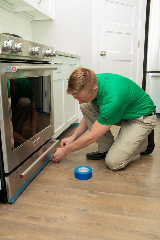 preparing for wood floor cleaning